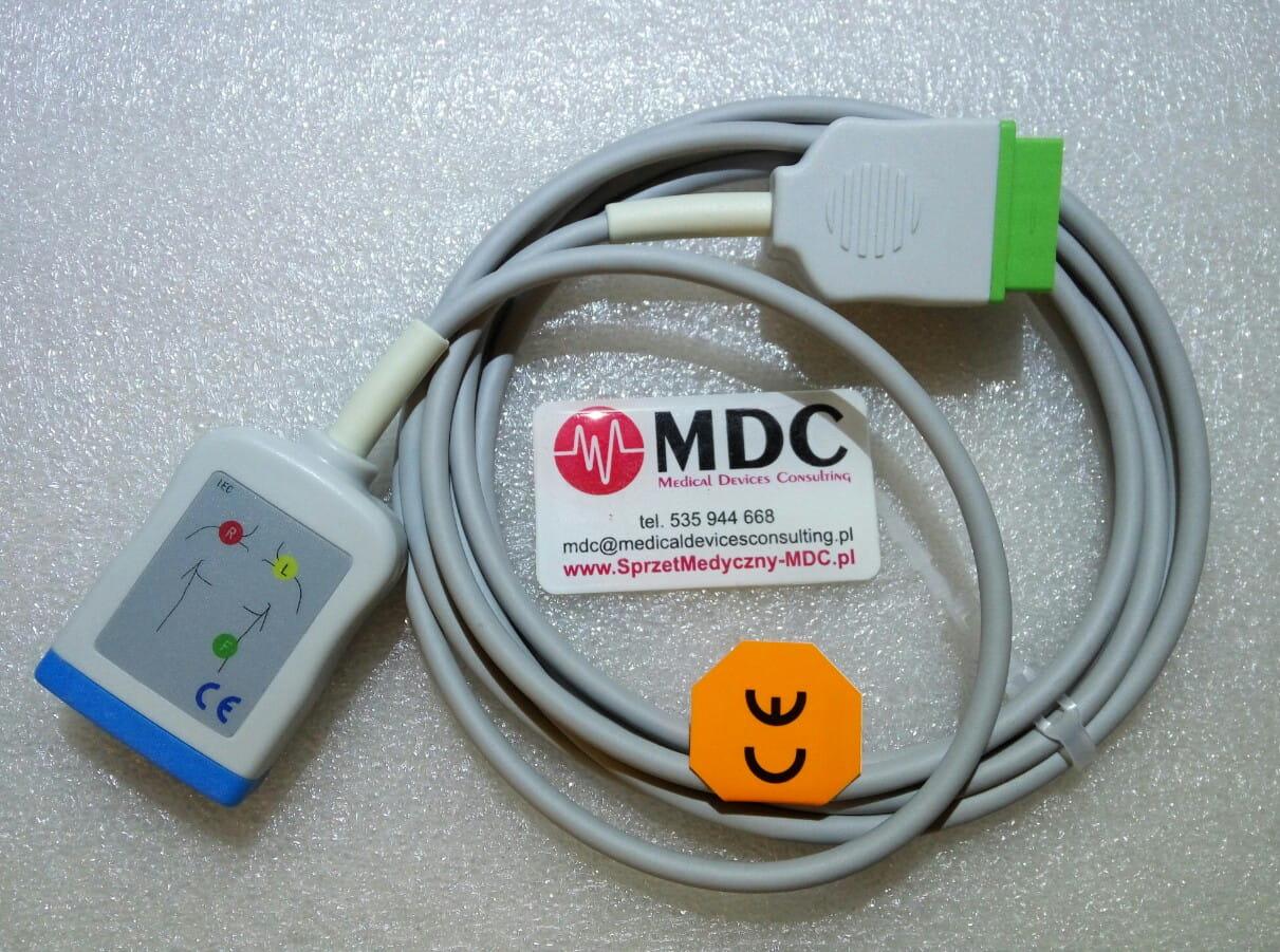 Kabel zbiorczy do 3 odprowadzeń EKG kompatybilny z GE DASH, Solar ...